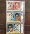 1955 Topps Commons Lot - All Graded PSA Or GAI 8 NM-MT - Price Is For One Card