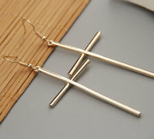 Fashion  Gold Plated Cross Chandelier Drop Earrings EH0282