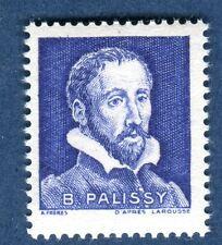vignette expérimentale pa4 Palissy bleu foncé fluo jaune aux UV en neuf**