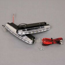 2X8 LED White Universal Daytime Running Driving Light DRL Fog Lamp Waterproof #Y