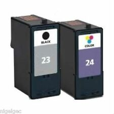 LEXMARK 18C1524E COLOUR INK 24 + 18C1523E BLACK INK CART 23 18C1419E REFILLED