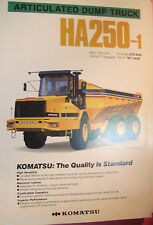 ✪altes original Prospekt/Sales Brochure Komatsu Articulated Dump Truck HA250-1
