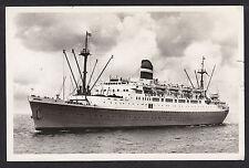 S.S. Ryndam-Holland Amerika Line-Ship-Real Photo-Vintage Postcard