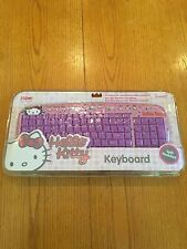 Sanrio Hello Kitty Spill Resistant USB Keyboard Pink w/Purple Keys - BRAND NEW
