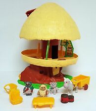 STAR WARS EWOK FAMILY TREE HOUSE HUT Vintage Kenner Playset NEAR COMPLETE 1984