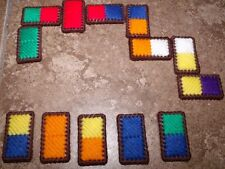 COLORFUL DOMINOES Plastic Canvas Kit Pre-cut Makes 28 Stitch & Play! Great Gift!