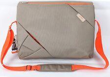 Bipra 15,6 pulgadas portátil bolsa mochila adecuado para 15,6 Pulgadas Laptops (Grey/orange)