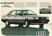 Publicité Advertising 1984 (2 pages) Audi 80
