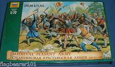 Zvezda 8059-Medieval ejército campesino. campesinos. 1:72 Scale