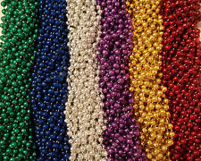 100 Asst 6 color Mardi Gras Gra Beads Necklaces Party Favors Lot Free Shipping