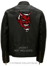 RED DEVIL EMBROIDERED IRON-ON PATCH satan lucifer LARGE 666 BACK SIZE EVIL MAN