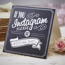INSTAGRAM sign chalkboard style Vintage Wedding sign x 5 Ginger Ray