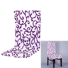 Stretch Elastic Hotel Wedding Floral Short Dining Chair Cover Seat Case Decor