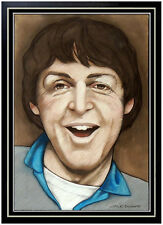 Jack Dowd ORIGINAL Pastel PAINTING The Beatles Paul McCartney Authentic Signed