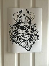 Bearded Skull Viking Van Car Window Wall VINYL DECAL STICKER Large 38x29CM!!!