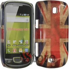 Cover Per Samsung S5570 Galaxy Mini Next Turbo Bandiera Inglese Retro Pellicola