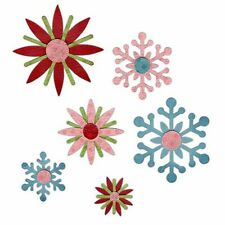 Ellison SIZZIX Sizzlits Decorative Strip WINTER ELEMENTS 658616 Snowflakes x 6