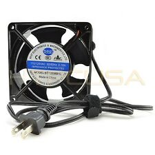 Best Electronics BT12038B1L 120mm x 38mm 115V AC Fan + 3FT Power Plug NEW