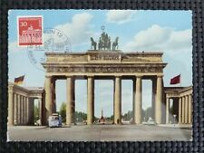 BERLIN MK 1966 288 BRANDENBURGER TOR MAXIMUMKARTE CARTE MAXIMUM CARD MC CM c5280