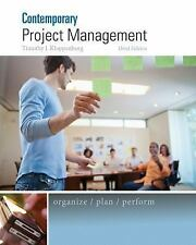Comtemporary Project Management by Timothy Kloppenborg (2014, Hardcover)