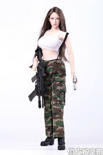 1/6 Jungle Camouflage Female Clothing Suits For 12'' Seamless Figure