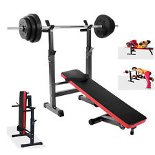 Heavy Duty Folding Preacher Weight Bench Gym Equipment Adjustable Barbell Rack