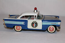AHI Brand, Tin Friction 1958 Oldsmobile 98 Police Car with Dome Light, Nice