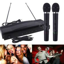 High Quality Wireless Microphone System Dual Handheld 2 x Mic Cordless Receiver