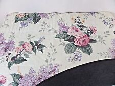 """Custom Made Swag Valance Patio Door Cottage Floral Lilac Peony Rose 258"""" Wide"""