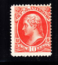 US O19 10c Interior Department Mint VG-Fine OG H SCV $70