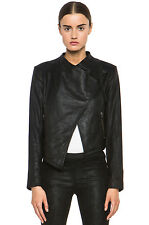 $895 HELMUT Helmut Lang Washed Leather Cropped Jacket L