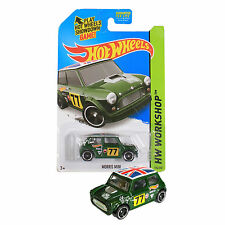 NEW 2014 Hot Wheels 1:64 Die Cast Car HW WORKSHOP Series Green Morris Mini 194