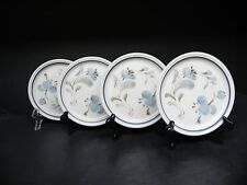 """JOHNSON BROTHERS TABLE PLUS SIROCCO BLUE SET OF 4 - 6 1/2""""  BREAD  PLATES"""