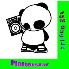 Panda Ghetto Blaster JDM sticker autocollant OEM ps power Fun like shocker Dub