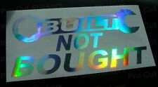 200mm (20cm) Built Not Bought Hologram Chrome Sticker JDM DUB EURO SCENE VAG VW