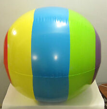 "4 NEW JUMBO 48"" INFLATABLE MULTI COLORED GIANT BEACH BALLS POOL PARTY BEACHBALL"