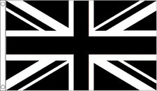 3' x 2' Black and White Union Jack Flag Sport Team Club Banner