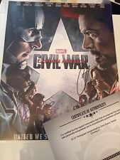 Robert Downey Jr And Chris Evans Hand Signed 8x10 Photo, Captain America, COA