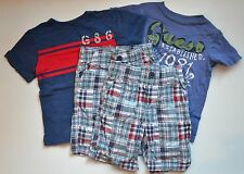 EUC Set of 4 Guess, GAP & Gymboree (2 Plaid Shorts & 2 Cotton Tees) Size 4