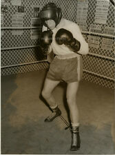 Orig. Photo, Terry Downes 'Hobbled Boxer'gefesselt 1959