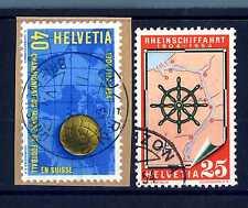 SVIZZERA - 1954 - Serie di propaganda - Navigazione sul Reno, calcio. E1358