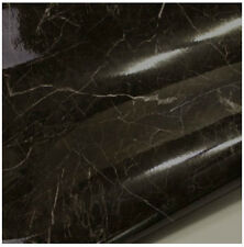 Black Granite Look Marble Effect Counter Top Self Adhesive Vinyl Contact Paper