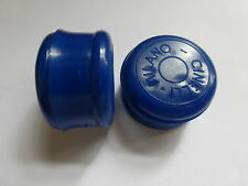 PAIR OF CINELLI MILANO BAR END PLUGS BLUE NOS