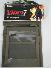 Viper ID Pass SIA Card Document Holder Green Security Doorman Pass 4 Pockets Zip