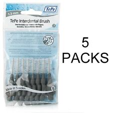 TePe Interdental Brushes Grey 1.3mm - 5 Packs of 8 Brushes - Fast, Free Ship