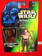 "Star Wars MALAKILI RANCOR KEEPER 3.75"" Green Card POTF Figure MOC!"