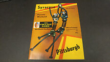 October 31 1970 Syracuse vs Pittsburgh Football Program
