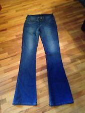 Bebe Women's Jeans 27 x 33 1/2 Rhinestones on back Pockets Mint