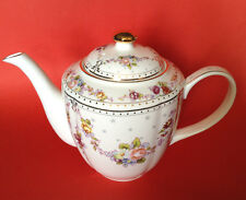 Grace Teaware, Flowers And Stars Tea Pot With Gilding, New Unused Condition