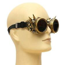 Rivet Vintage Steampunk Goggles Glasses Welding Punk Cosplay Brass